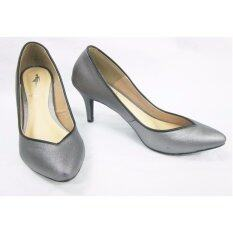 Orella รองเท้า สตรี Metallic fashion shoe รุ่น W-312 สีเทาเข้ม