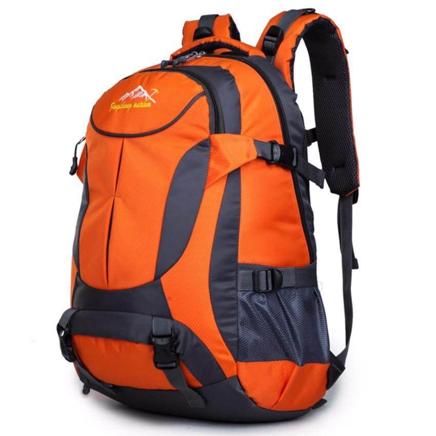 Otzi กระเป๋าเป้สะพายหลัง แบ็คแพ็ค เดินทาง ท่องเทียว กันน้ำ สีส้ม