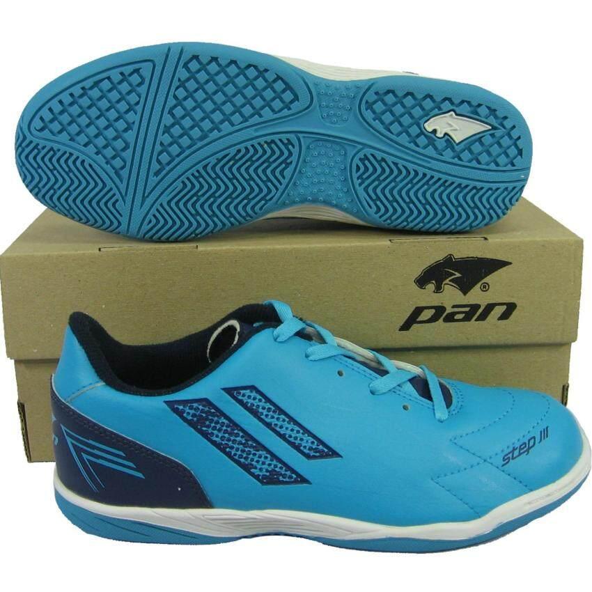 รองเท้ากีฬา รองเท้าฟุตซอลเด็ก PAN 14J4 STEP III JR ฟ้ากรม ...