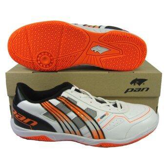 รองเท้ากีฬา รองเท้าฟุตซอล PAN 14L5 ZIGMA II ขาวส้ม