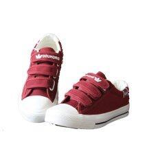 PIE&PING รองเท้าผ้าใบแฟชั่นผู้หญิง C076 สีแดงเข้ม