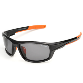 Polarized Casual Sports Sunglasses for Driving Fishing Hunting Golf Unbreakable Frame Black