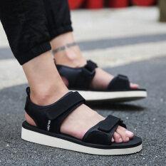 ชายในช่วงฤดูร้อนของผู้ชายชายและรองเท้าแตะรองเท้าแตะ (สีดำ) ราคา 534 บาท(-30%)