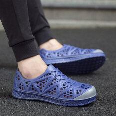 ชายหาดชายลื่นในช่วงฤดูร้อนรองเท้าแตะฤดูร้อนรองเท้าลำลอง (สีฟ้า) ราคา 444 บาท(-76%)
