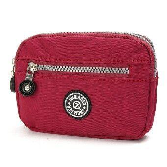 กระเป๋าสตางค์กระเป๋าถือสตรีร่างเพรียวยาวผ้าไนลอนกระเป๋าสตางค์