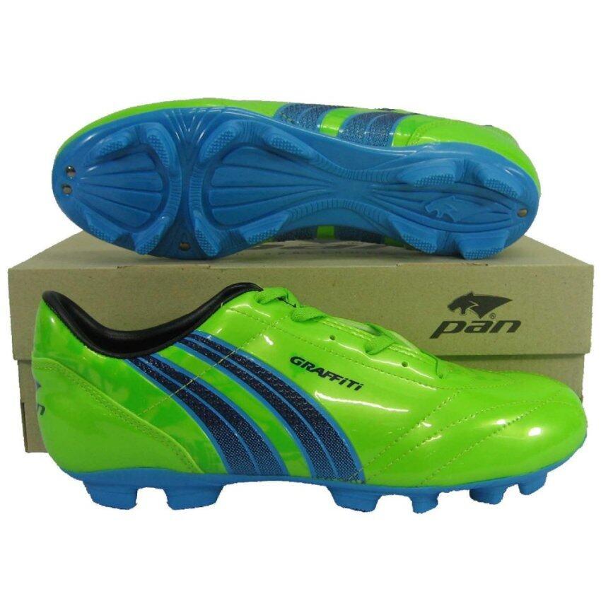 รองเท้ากีฬา รองเท้าสตั๊ด PAN 15K7 GRAFFITI เขียวน้ำเงิน