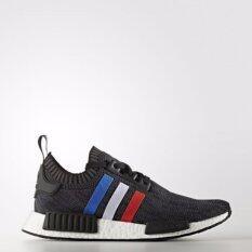 รองเท้าผู้หญิง Adidas NMD PK Primeknit หายาก รุ่นใหม่สีดำแถบสามสี
