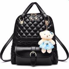 RockLife 3 in 1 Women Bag Top Handle Bag Women Backpack กระเป๋าสะพายไหล่ กระเป๋าเป้สะพายหลัง -(Black)