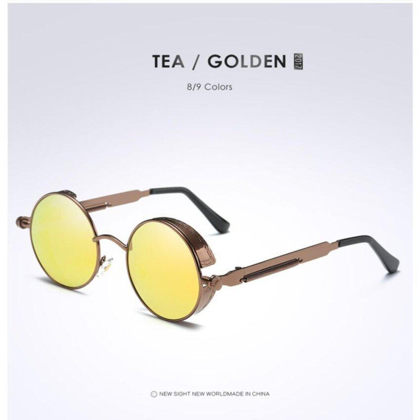Round Metal Sunglasses Steampunk Men Women Fashion Glasses Brand Designer Retro Vintage Sunglasses UV400 - intl