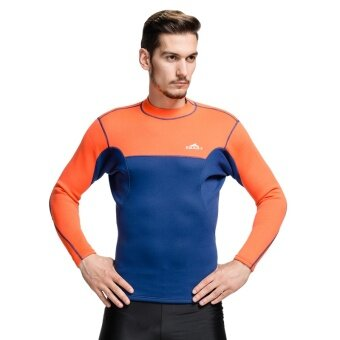 SBART Men's Long Sleeve 2mm Neoprene Wetsuit Diving Jacket Rashguard Surfing Suit - intl