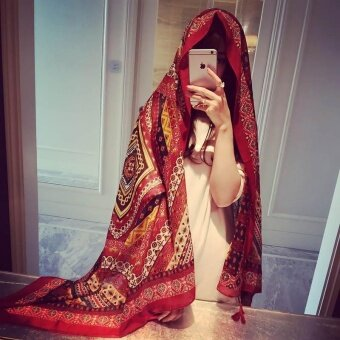 Shawl Dual - Use Towel Beach Towel Beach Sunny Summer Scarf - MazeRed - intl