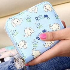 น่ารักหญิงญี่ปุ่นเกาหลี Shishang กระเป๋าเงินกระเป๋าสตางค์สั้น (สีฟ้า-8044) ราคา 119 บาท(-59%)