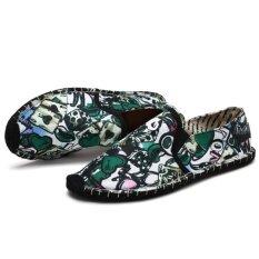 Spring New Style Printing Men Loafers Fashion Mens Flats Men Dress Shoes Footwear Slip On - Intl ราคา 636 บาท(-80%)