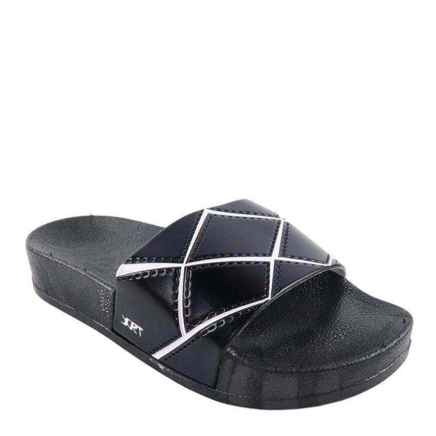 Squareladies รองเท้าแตะ ลำลอง No.A-999-1 (สีดำ) ...