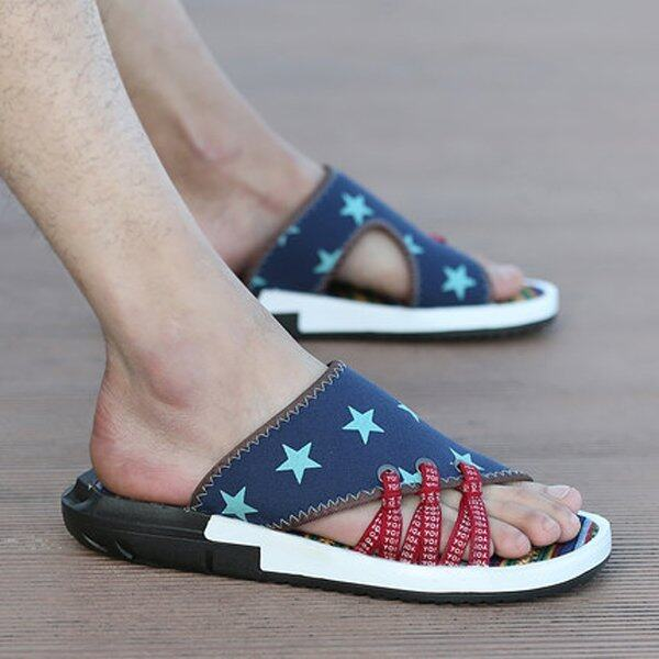 Summer Slippers Men Sandals Slippers (Blue) - intl ...