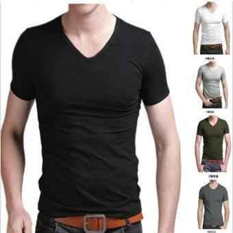 T Shirt Men New V-Neck Men'S T-Shirt Fashion Style S-Xxxl - Intl