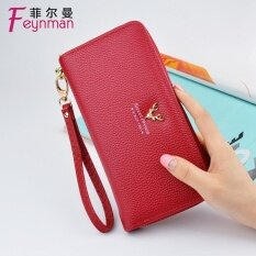 The Ladys Purse Female Long Style Of Zipper Hand Lifts 2017 New Style Of Big Capacity Clutch Han Ban Is Multi-Function Female Type Small Change Clip Red - Intl ราคา 629 บาท(-35%)
