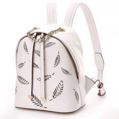 TOTO Bag กระเป๋าแฟชั่น กระเป๋าสะพายหลัง กระเป๋าเป้ รุ่น LP-030 (สีขาว)