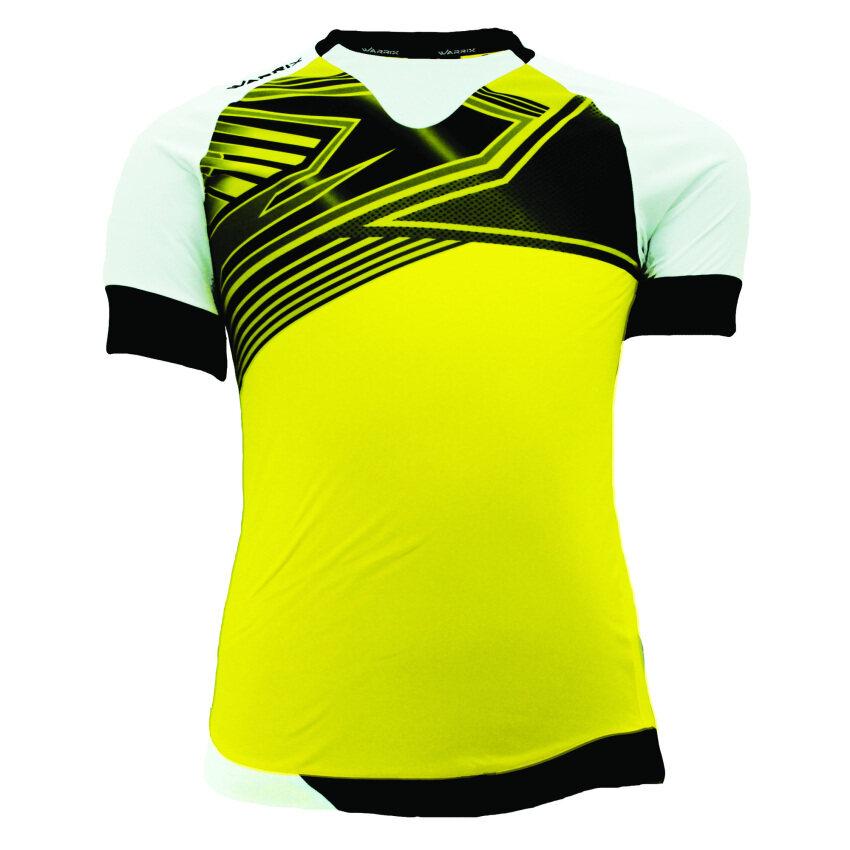 WARRIX SPORT เสื้อฟุตบอลพิมพ์ลาย WA-1502 สีเหลือง-ดำ