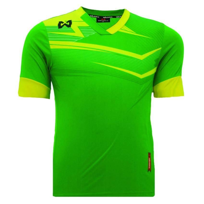 WARRIX SPORT เสื้อฟุตบอลพิมพ์ลาย WA-1514 (สีเขียว-เหลือง)