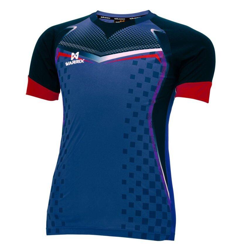 WARRIX SPORT เสื้อฟุตบอลพิมพ์ลาย WA-1518 (สีน้ำเงิน-ดำ) ...