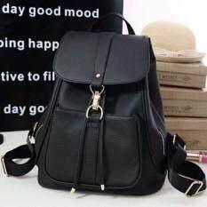 wiweeland กระเป๋าเป้ เป้สะพายหลัง กระเป๋าแฟชั่น (สีดำ)