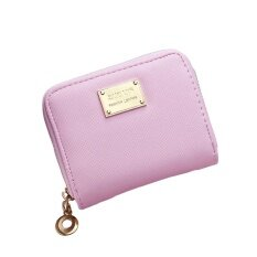 Women Girl Zipper Wallet Pu Leather Mini Purse For Cards Keys Coins Small Change Holding (pink) - Intl ราคา 178 บาท(-40%)
