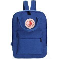 wonderful story Korea Women Bag Backpack กระเป๋าเป้สะพายหลัง - Blue