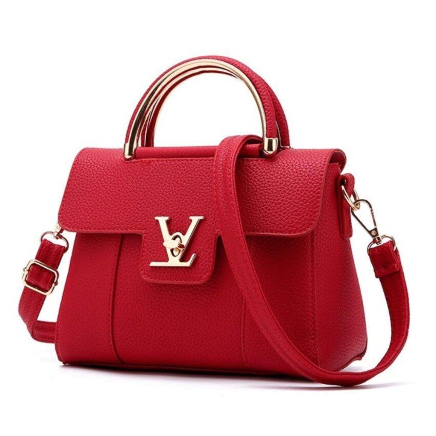 Wonderful story กระเป๋าสะพายข้าง กระเป๋าเป้ผ้าไนลอน V2- (Red)