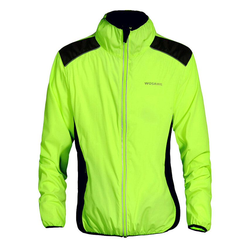 WOSAWE Cycling Jersey Riding Breathable Jacket Cycle Clothing Bike Long Sleeve Wind Coat ...