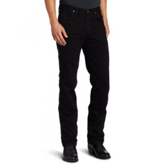 Wrangler Mens Tall Premium Performance Cowboy Cut Jean Slim Fit Black 32x38 - intl