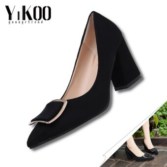 YIKOO Women's Pumps Party Shoes Pointed Toe High Heels Work shoesHigh Heeled Sandals (Black) - intl