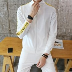 Yilee Womens Long-Sleeved Slim-Cut Cardigan Suit Lovers Casual Running Sportswear(white) - Intl ราคา 894 บาท(-46%)