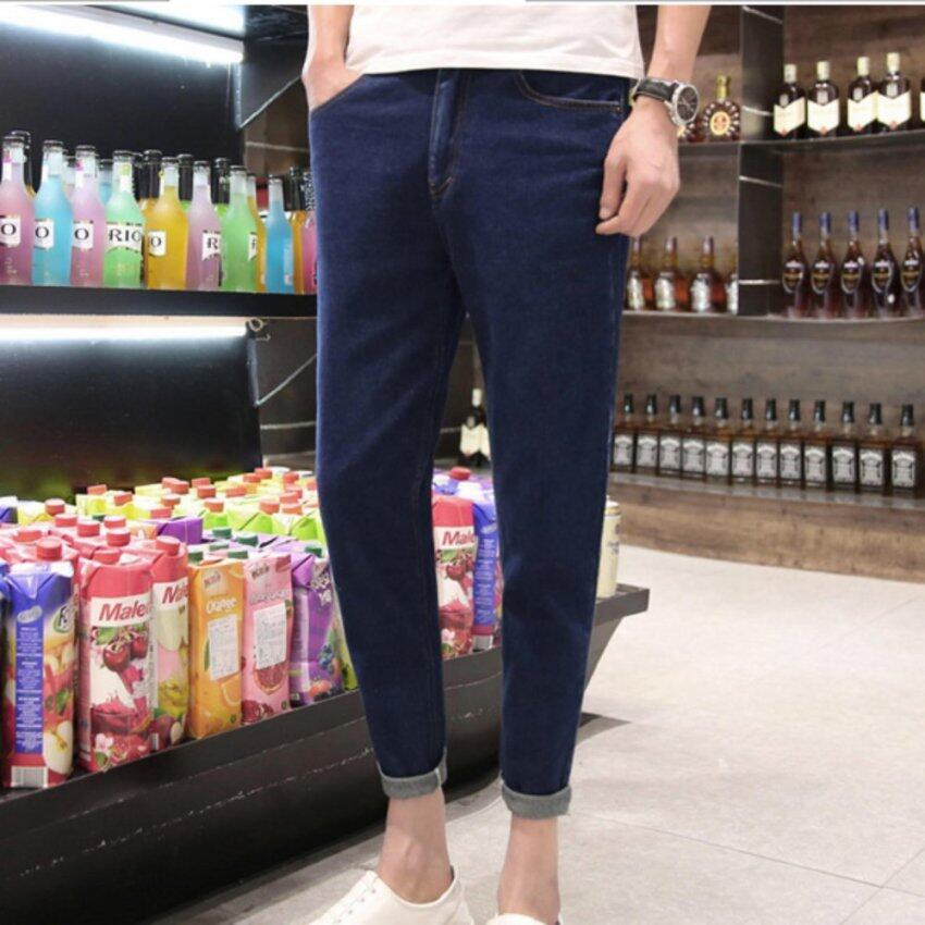 ZH Shopping Male pants Haren slim jeans Dark blue - intl ...