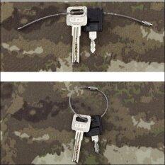 1 ชิ้น  Stainless Steel Wire Key Keychain Cable Key Ring for Outdoor Hiking