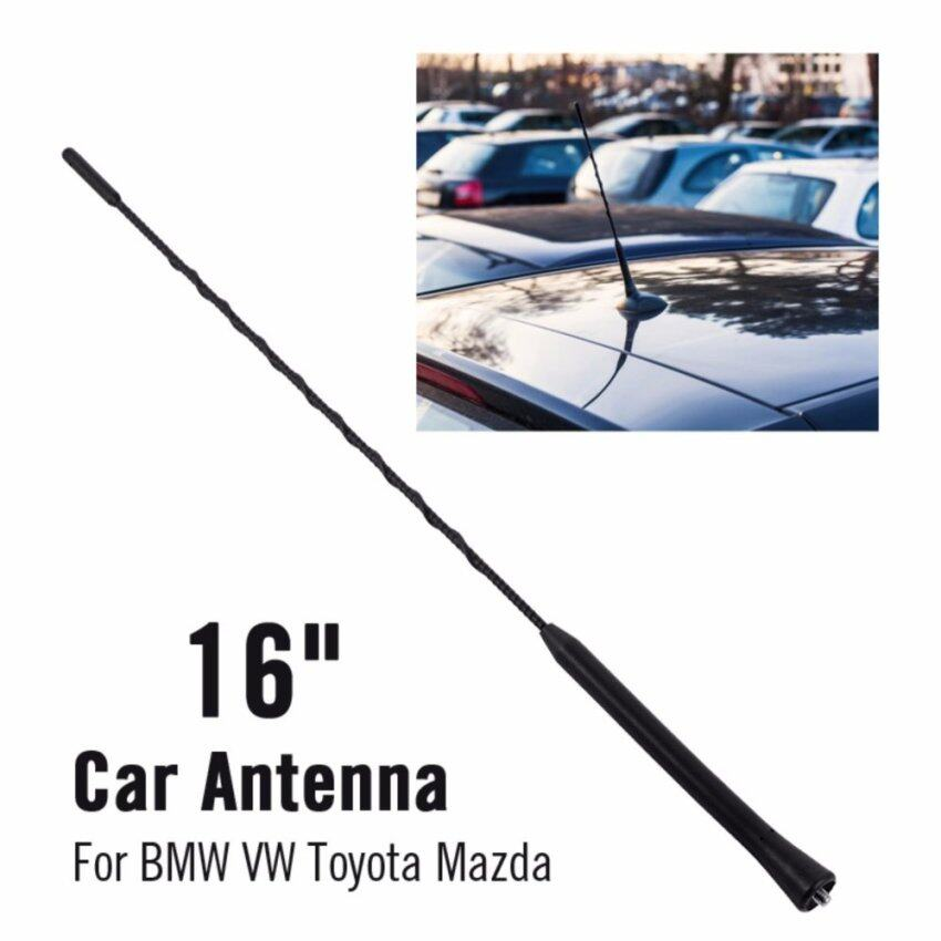 """16"""" Car Aerial Antenna Amplified Roof Fender Mast Replacement for VW Golf - intl"""