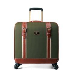 16 Inch Flip Carry on luggage Oxford Vintage Travel luggage Valise bagage for Women Men (Army green) (Intl) โปรโมชั่น