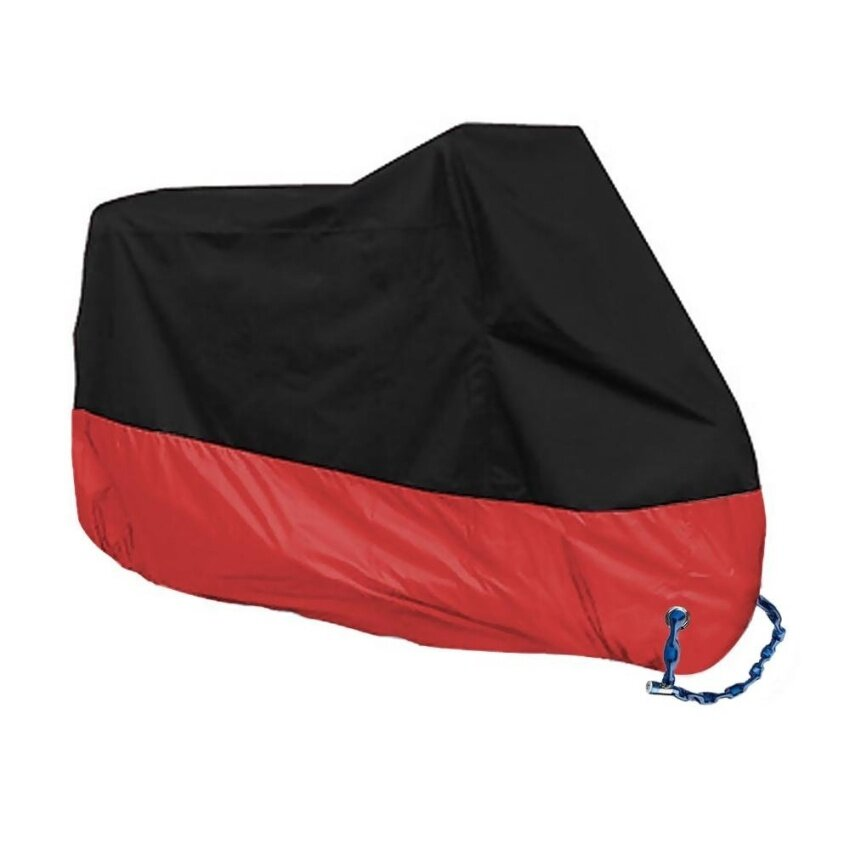 190T Waterproof Motocycle Cover Bike Motorbike Outdoor Rain UV Protector 230CM XL Red - intl