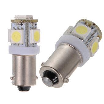 20 X T11 T4W 233 Bayonet LED 5 SMD HID White Interior Cap Side Light Bulb - Intl