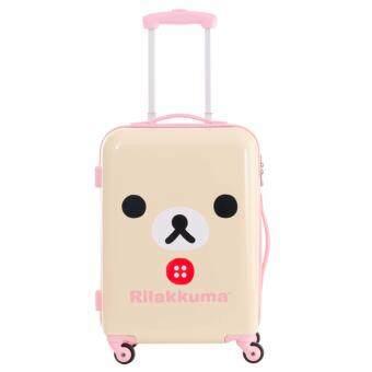 20 ริลัคคุมะ กระเป๋าเดินทาง คอลเลคชั่นหน้าน้องหมีโคริคุมะ - สีครีม