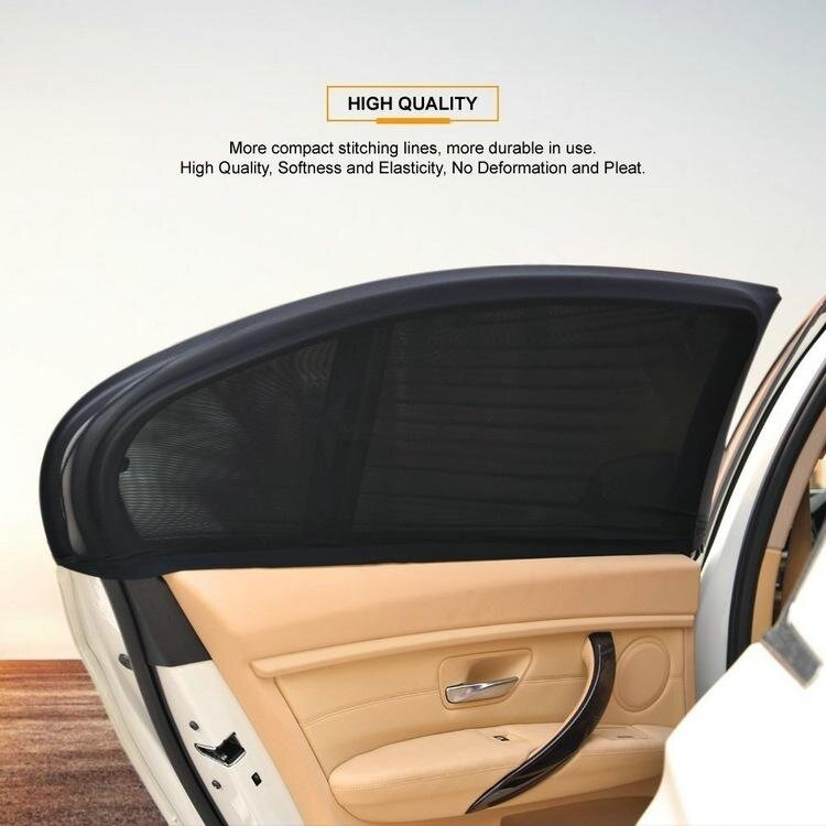 2Pcs Car Vehicle Door Window UV Protection Shield Sun Shade Cover Universal - intl