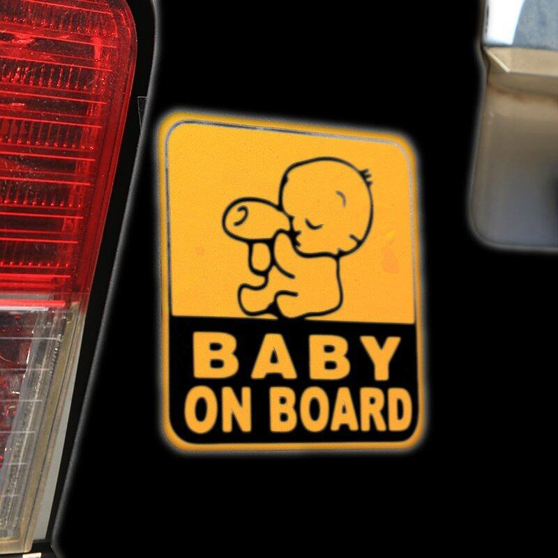 2Pcs New Baby On Board Car Milk Sticker Logo Waterproof Window Laptop Safe ...