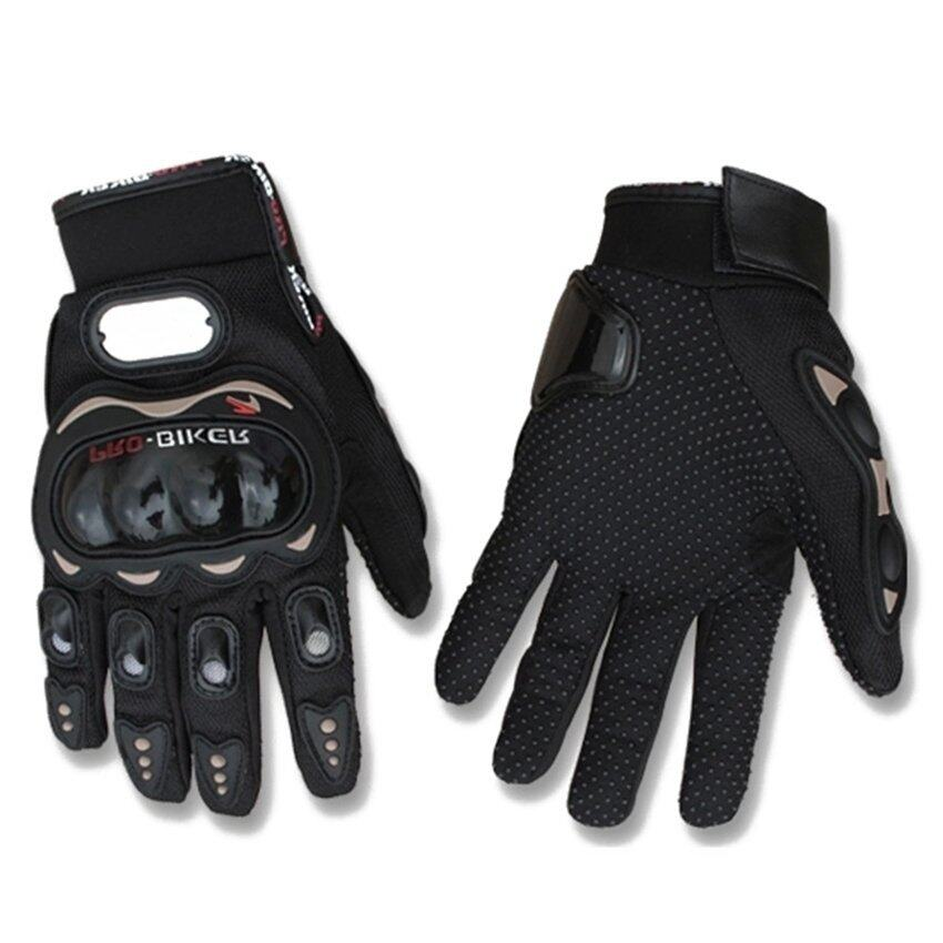 2pcs*Motorcycle Gloves Motorbike Carbon Fiber Biker Bike Racing Full Finger Black M  - Intl