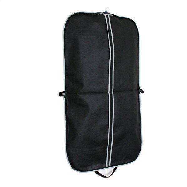 3ชิ้นเสื้อสูทเสื้อคลุมเก็บกระเป๋าเดินทางฉนวน (สีดำ)
