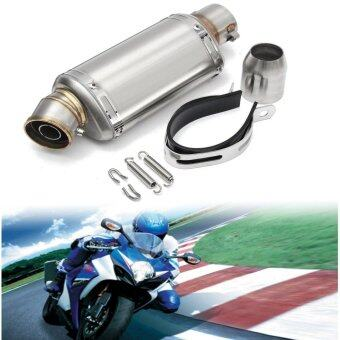 38-51mm Stainless Steel Universal Motorcycle Exhaust Muffler Pipe w/ Silencer Stainless Steel S - intl