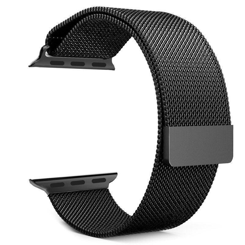 วงจรแม่เหล็กชุบนาฬิกาแหวนรัดสเตนเลสสำหรับนาฬิกา 42มม. (สีดำ) ...