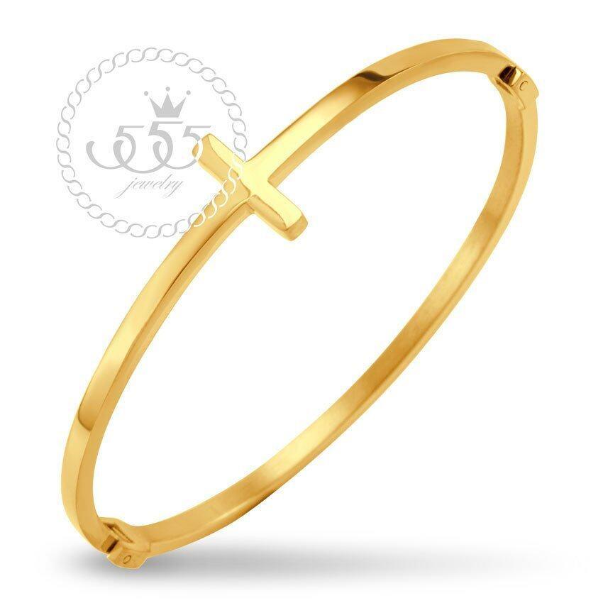 555jewelry 316L Bangle กำไล รุ่น MNC-BG233-B (Yellow Gold) ...