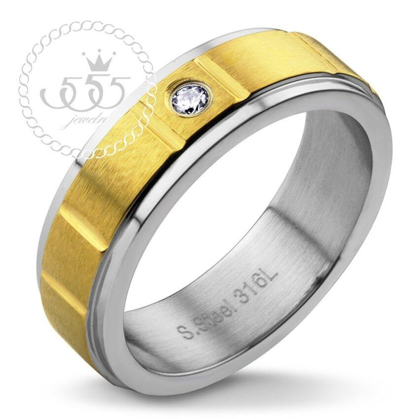 555jewelry แหวน รุ่น MNC-R393-B (Yellow Gold) ...