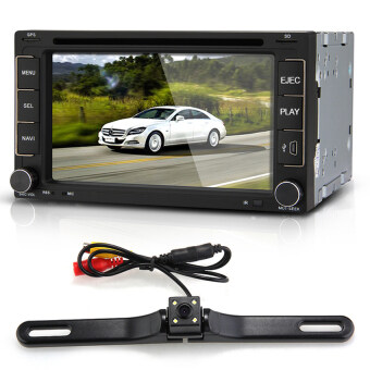 "6.2"" Car DVD Player Stereo In-Dash 2 DIN GPS SD Camera Europe Mapfor iPod - Intl"