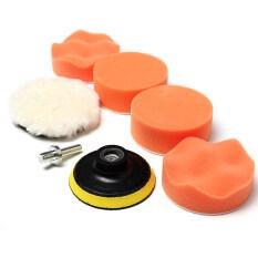 "6pcs 3"" High Gross Polishing Buffer Pad Set + Drill Adapter M10 - For Car polish"